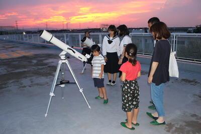 2019年の星空観察講座の様子です。